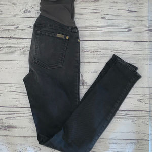 7 For All Mankind MATERNITY Gray Skinny Jean Sz 28